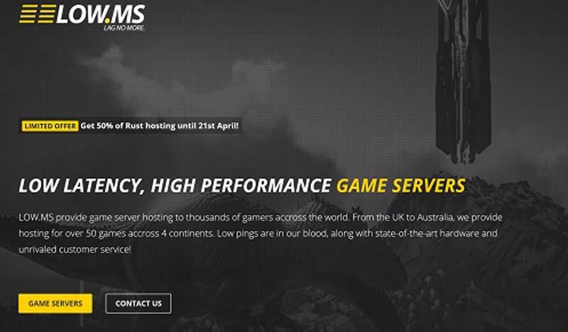 Screenshot of new LOW.MS website